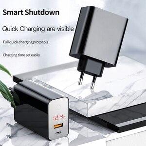 Image 2 - Baseus شحن سريع 4.0 3.0 USB شاحن آيفون 11 برو ماكس سامسونج شاومي هواوي SCP QC4.0 PD سريع الجدار شاحن الهاتف المحمول