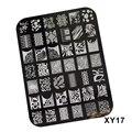XY17 Diseños Calientes de La Moda Plantillas Placas Nail Art Puntas de DIY Que Estampa Las Placas de Acero Inoxidable de Manicura Herramientas Polacos