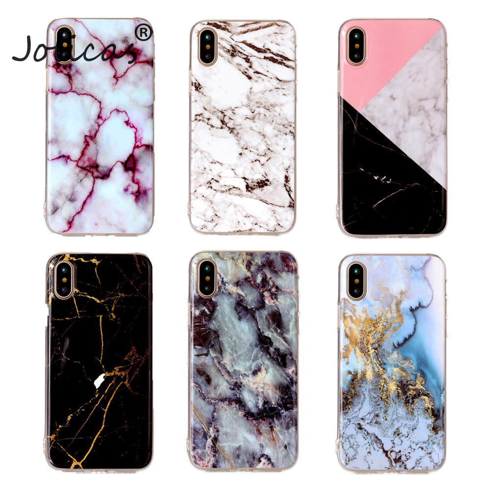 Marble Cases For iPhone X Case TPU Soft Silicone Dirt Resistant Back Cover Mobile Phone Bags For iPhone 7 8 6 6S Plus X iPhone