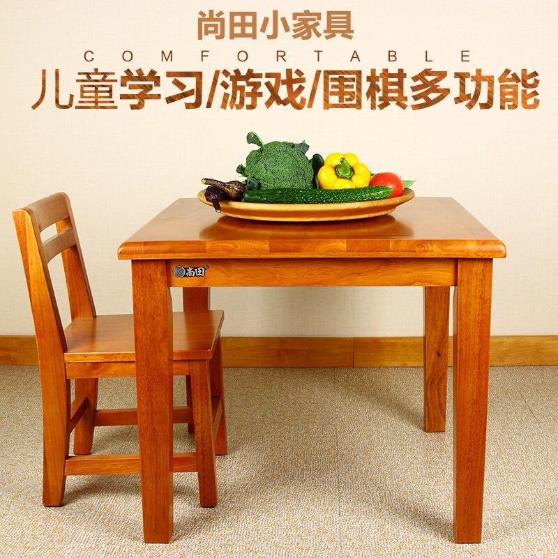 Baby Shangtian Kinder Lernen Realen Holz Schreibtisch Spiel Malerei