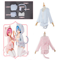 The Zero Cosplay Rem Ram Sexy Cat Ears To See The Costume Female Anime Re Zero Cosplay Pajamas Re: Life in a different world