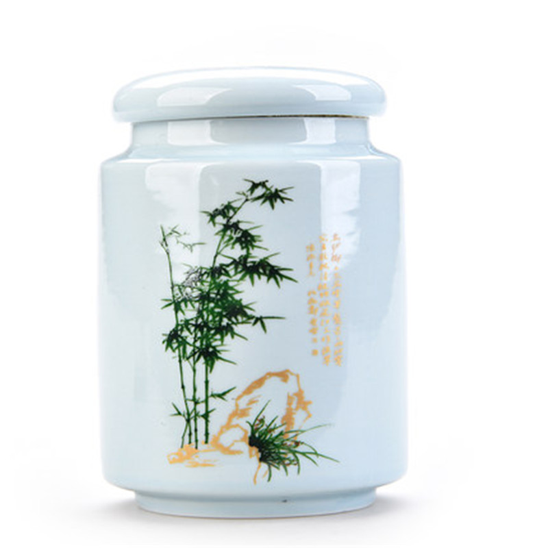 Porcelain Container Organizer Tea Sealed Storage Jars with Lids Ceramic Storage Tin Pot for Spices Tea Coffee Candy Bottle Boxes Storage Bottles & Jars     - title=