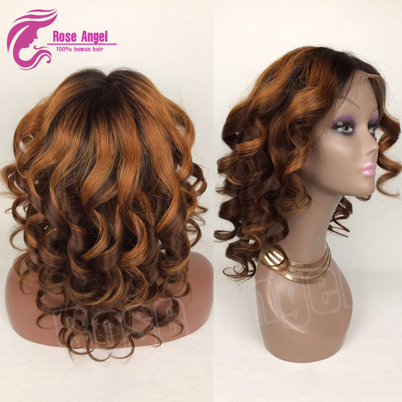 Updo Wigs Wavy Lace Front Wig For Black White Women Remy Wet And