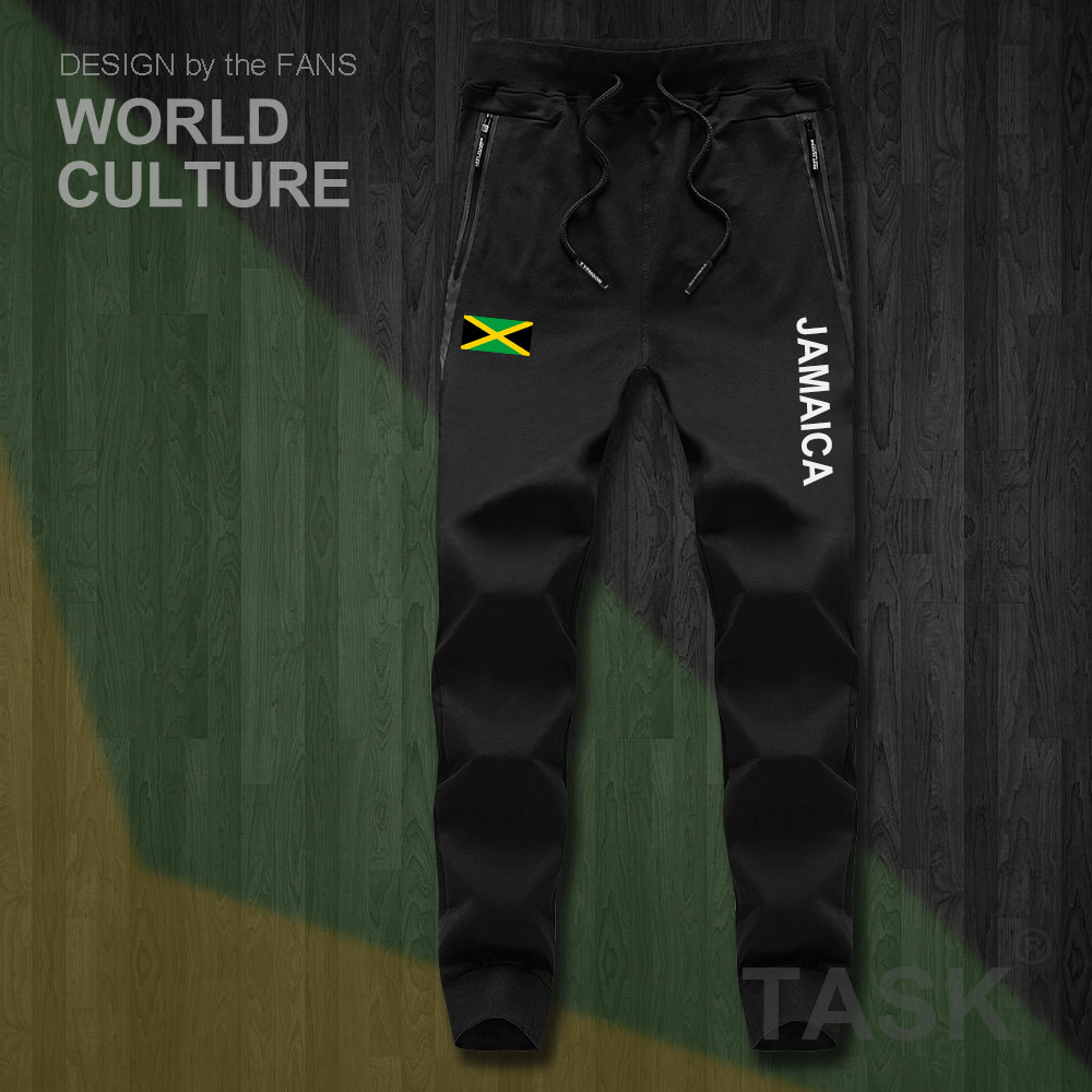 Jamaica JAM Jamaican Mens Pants Joggers Jumpsuit Sweatpants Track Sweat Fitness Fleece Tactical Casual Nation Country Leggin NEW