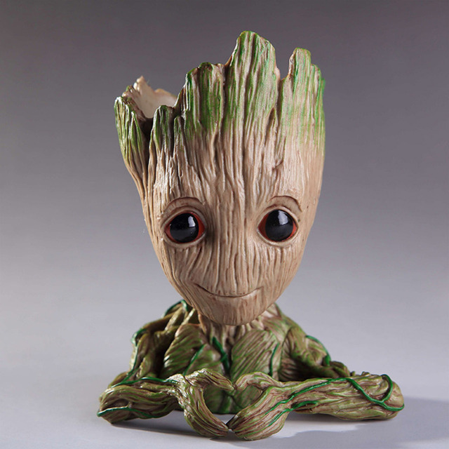 Cartoon Tree Guards Dolls Kids Groot Action Figures Model Toys Flowerpot Pen Pot Best Christmas Gifts For Kids Home Decoration