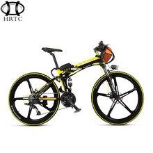 36V15ah lithium battery BMS protection electric bicycle 26 inch folding mountain aluminum bike alloy 5spokes wheel rang45km cvt