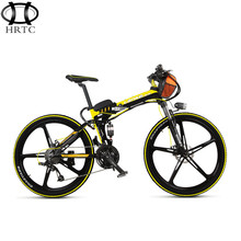 36V15ah lithium battery BMS protection electric bicycle 26 inch folding mountain aluminum bike alloy 5spokes wheel rang45km cvt