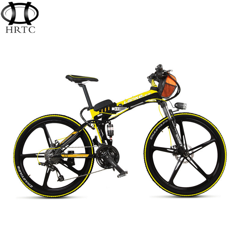36V15ah lithium battery BMS protection font b electric b font bicycle 26 inch folding mountain aluminum