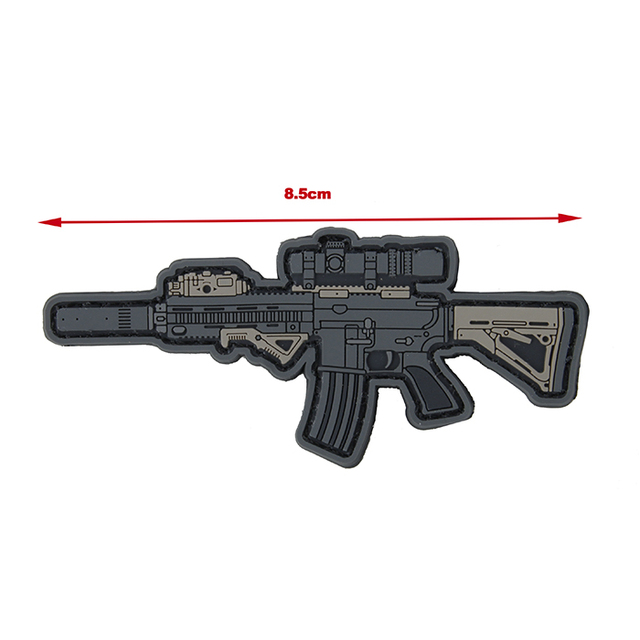 Tactical PVC Morale Patch HK416 Mini Airsoft Weapon Patch