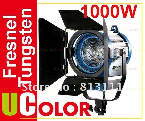 Nicefoto 1000W 1K Tungsten Fresnel Video Spot Movie Film Light Continuous Lighting