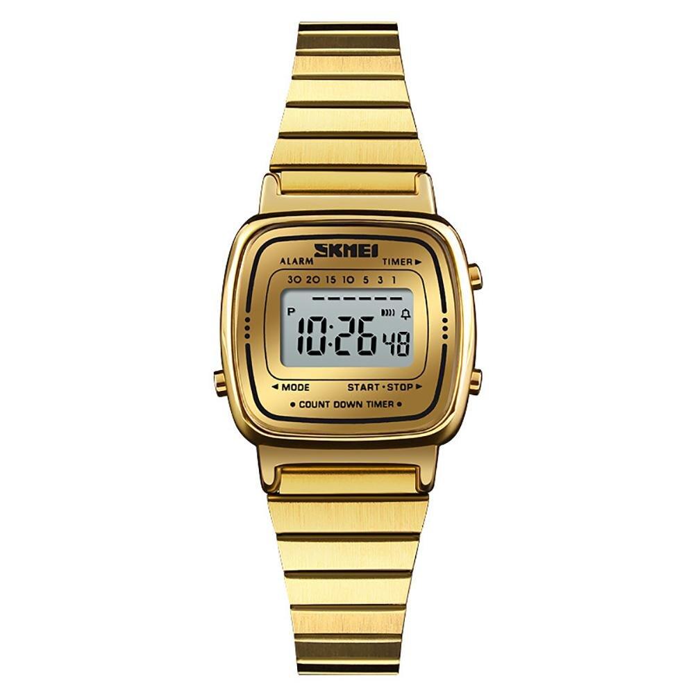 Popular Fashion Hot Brand Women Digital Countdown Alarm Luminous Waterproof Business Wrist Watch