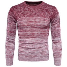 Hot sale 2017 Sweater Men Winter Christmas Thick Warm Cashmere Sweaters Fashion Gradient Color Print O-Neck Pullover Men