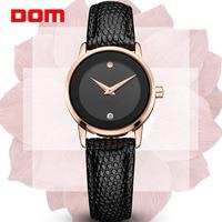 Relogio Feminino DOM luxury brand women watches waterproof style quartz leather gold nurse watch clock dress Gift