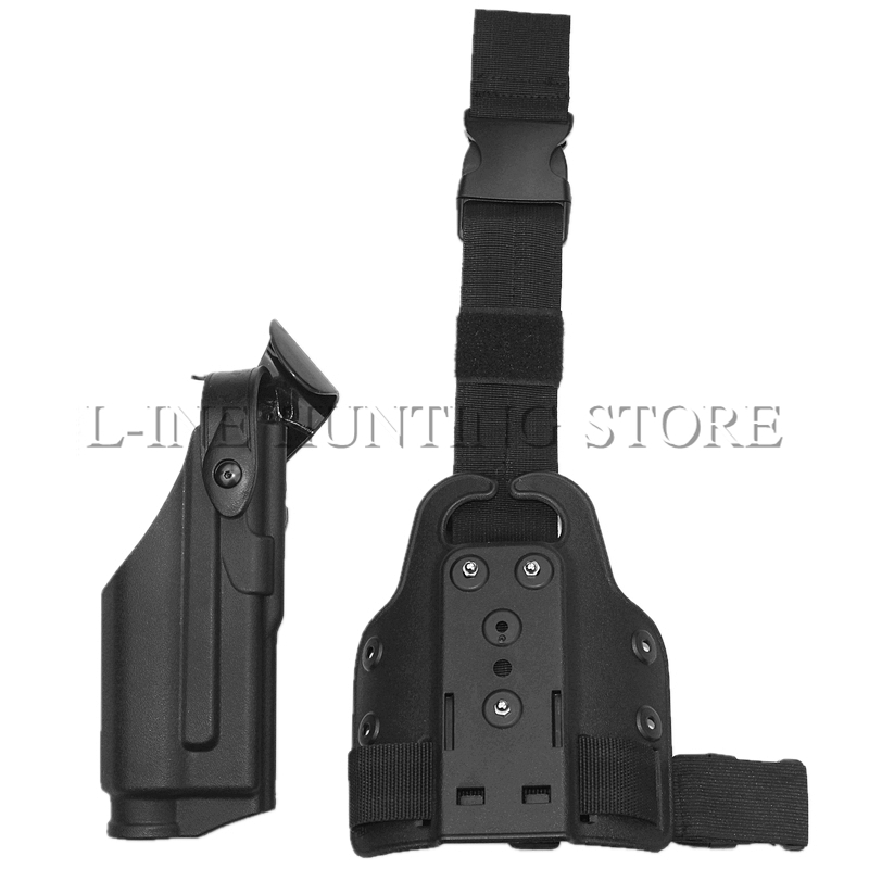 Teniendo la luz de Caza Táctico de Airsoft Pistola Pistolera de La Pierna Derech