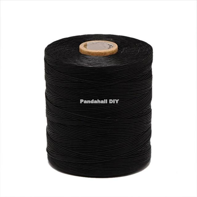 1x0.5mm Waxed Polyester Cord Jewelry Findings Black/White/Red, about 800m/roll