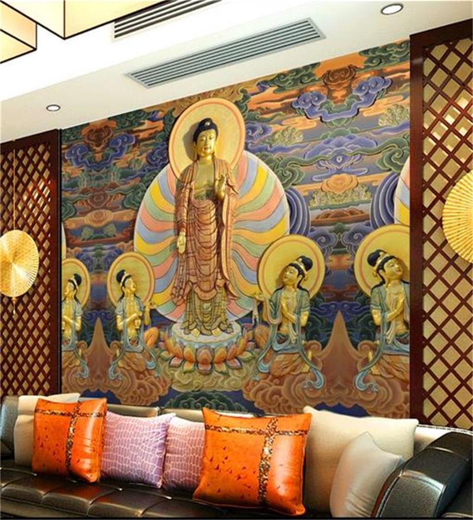 Personalizado 3d Foto Papel De Parede Pintura Tv Fundo Sala De Estar  -> Sala De Tv Cultura