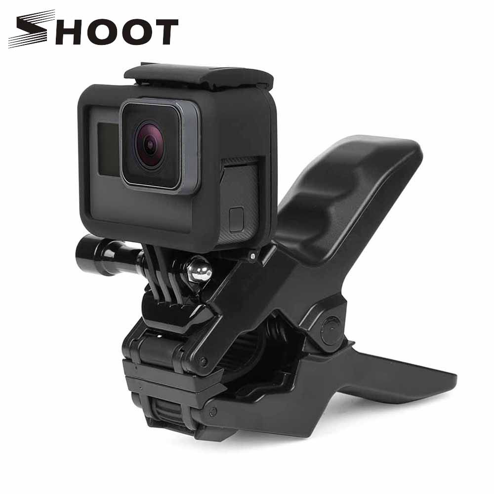 SHOOT Jaws Flex Clamp Mount for GoPro Hero 7 6 5 Xiaomi Yi 4K Sjcam Eken H9r With Bucket Tripod Holder for Go Pro Hero Accessory shoot jaws flex clamp mount for gopro hero 7 6 5 xiaomi yi 4k sjcam eken h9r with bucket tripod holder for go pro hero accessory