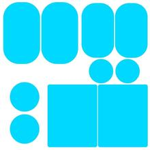 2 szt. Naklejka na samochodowe lusterko wsteczne wodoodporna przeciwmgielna przeciwdeszczowa folia boczna szyba filmowa 100% wysoka jakość nowa gwarancja jasnoniebieski