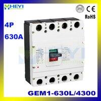 MCCB GEM1 630L/4300 GEM1 630M/4300 GEM1 630L/4300 NEW GEM1 630M/4300 NEW 400VAC 630A ac 4P Molded Case Circuit Breaker