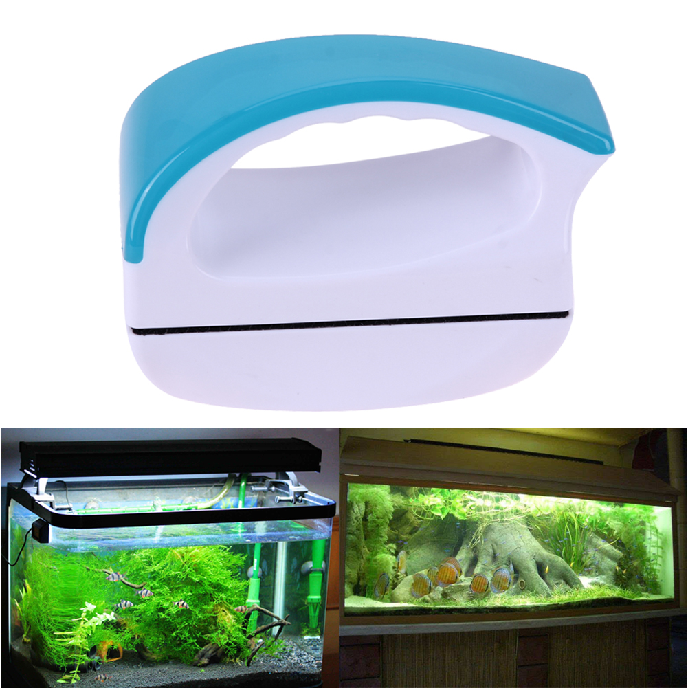 Aquarium window cleaning magnetic double side fish tank for Fish window cleaning reviews