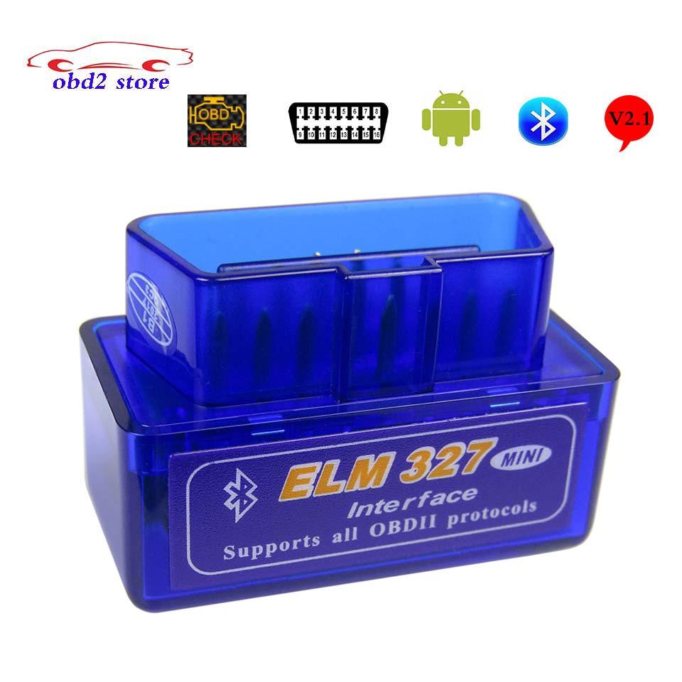 ELM 327 V2.1 Elm327 Bluetooth OBD2 Car Diagnostic Scanner For Android Elm-327 OBD 2 Auto Code Reader Diagnostic Tool 20pcs/ super mini elm327 obd2 bluetooth interface v2 1 obd2 obdii auto car diagnostic tool elm 327 work on android torque pc russian en
