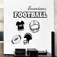 Decalcomania della parete football americano sport kids room decor adesivi in vinile di arte