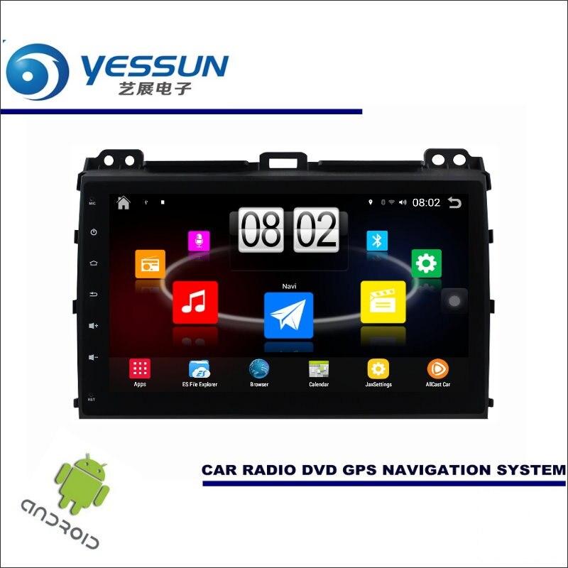 Yessun автомобиля Android мультимедийный плеер для Toyota Prado для Lexus GX J120 Радио стерео GPS nav Navi Географические карты (без CD DVD) 9 HD Экран