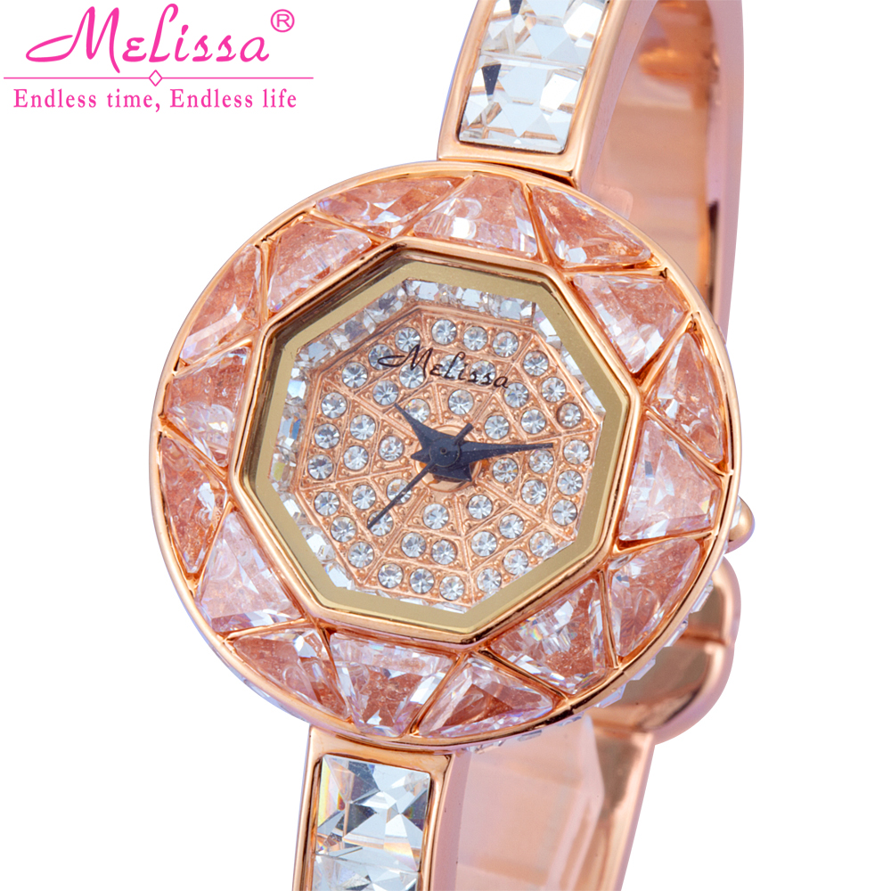 Melissa Lady Women's Watch Japan Quartz Hours Fine Fashion Bangle Bracelet Brand Girl Luxury Rhinestones Birthday Gift