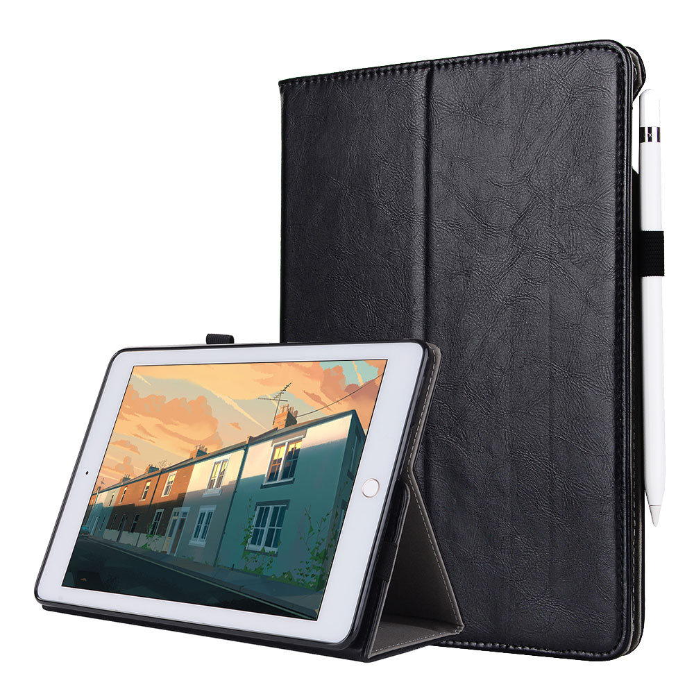 For iPad mini 1 2 3 Smart Flip Tablet Case Cover High Quality Genuine Leather+PU Folding Stand Case + Card Slots + Pencil Holder top quality hot selling fashion design anchors pattern flip stand leather case cover for ipad mini 2 retina jul 12