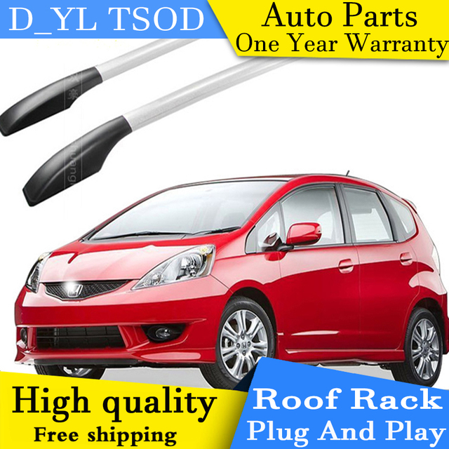Honda Fit Roof Rack >> D Yl Car Styling For Honda Fit Car Roof Rack Aluminum Alloy Luggage