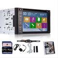Бесплатная камеры в комплекте в тире 2 дин Dvd GPS универсальный стерео радио Navi MP3 BT сенсорный экран