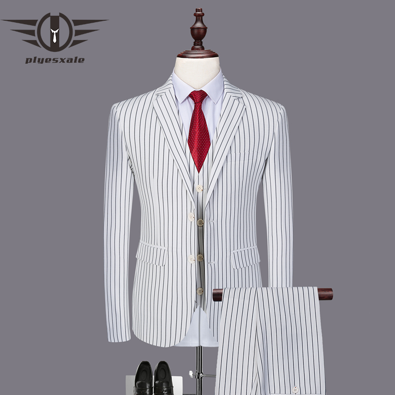 2019 New Men Suit 3 Pieces tuxedo Slim Fit red coffee blue for Wedding Dress Suits