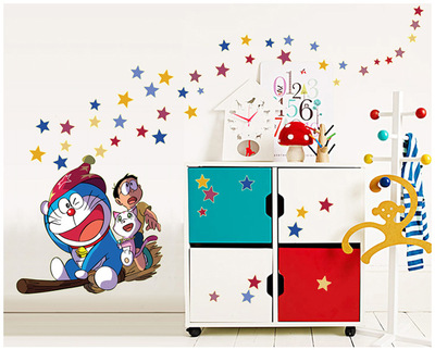 Hot sale Doraemon Jingle Cats Luminous Cartoon Wall Stickers For children room Removable wall decoration stickers