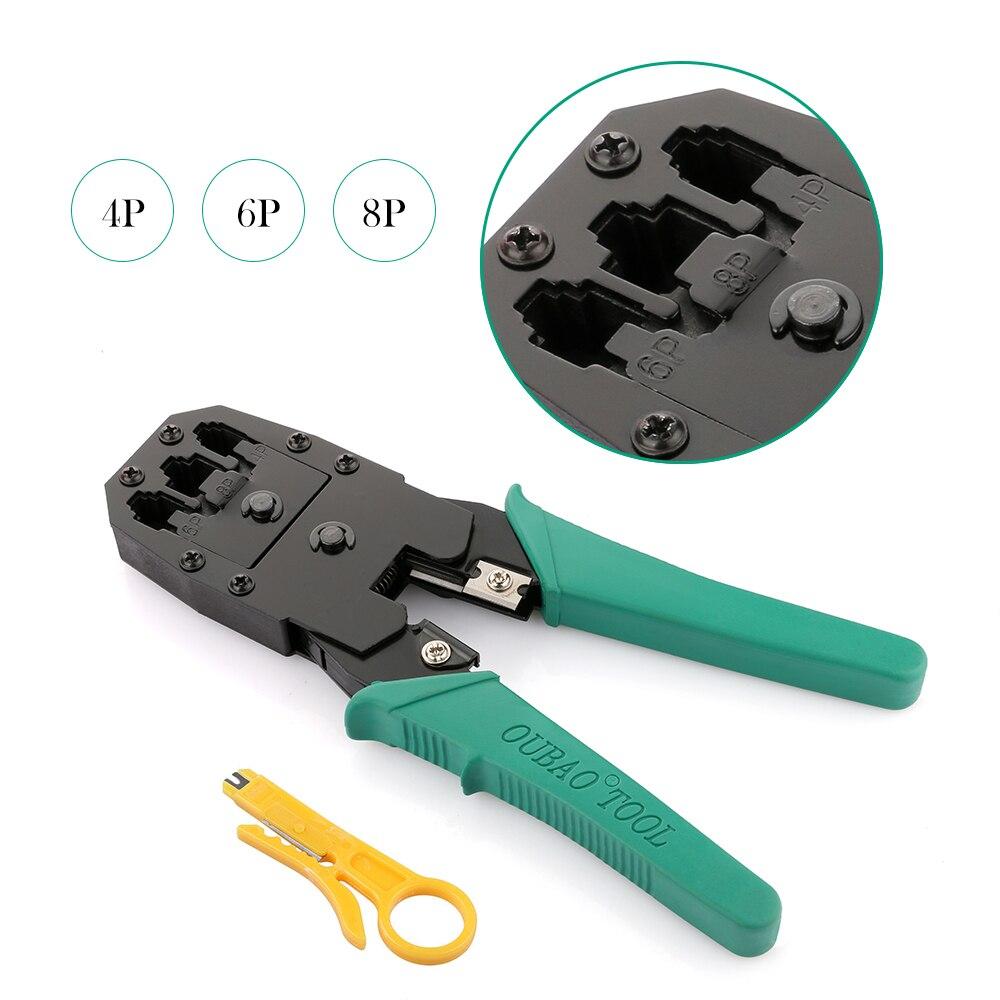 Portátil Cable de red Ethernet Crimper herramientas de corte de Kits de prensa Stripper Punch Down RJ45 RJ12 RJ11 Cat5 Cat6 8 P/ 6 P/4 P