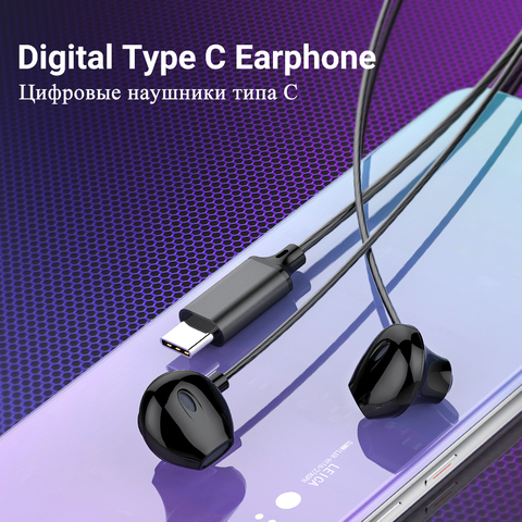 2019 Langsdom Digital Type C Earphone with Mic Hifi Bass Headset for Samsung in ear Headphones for Auriculare Xiaomi USB C Phone Lahore