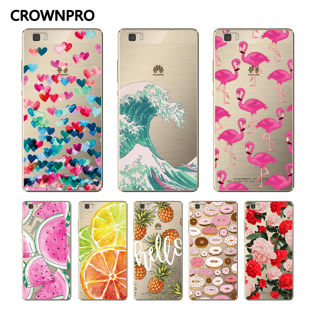 CROWNPRO Case-Cover P8-Lite-Phone Huawei Protective-Back FOR Soft-Silicon