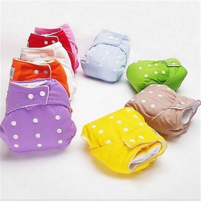 Multi-color 1 PCS ajustable reutilizable bebé pañales de tela suave cubre chico chica lavable ajustable una talla Fraldas 2019