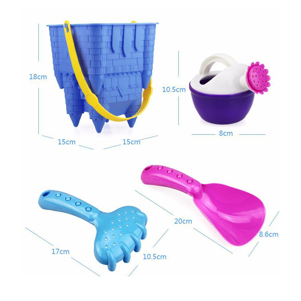 8pcs beach Sand toys Kids Beach Castle Bucket Spade Shovel Rake Water Tools Toys sandbox for children A1