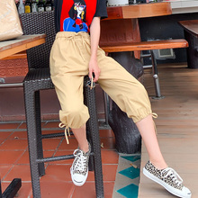 Womens Corduroy Pants New Fairy Casual Loose Seven-Cent 2019 Harem Size S-XXL HJH