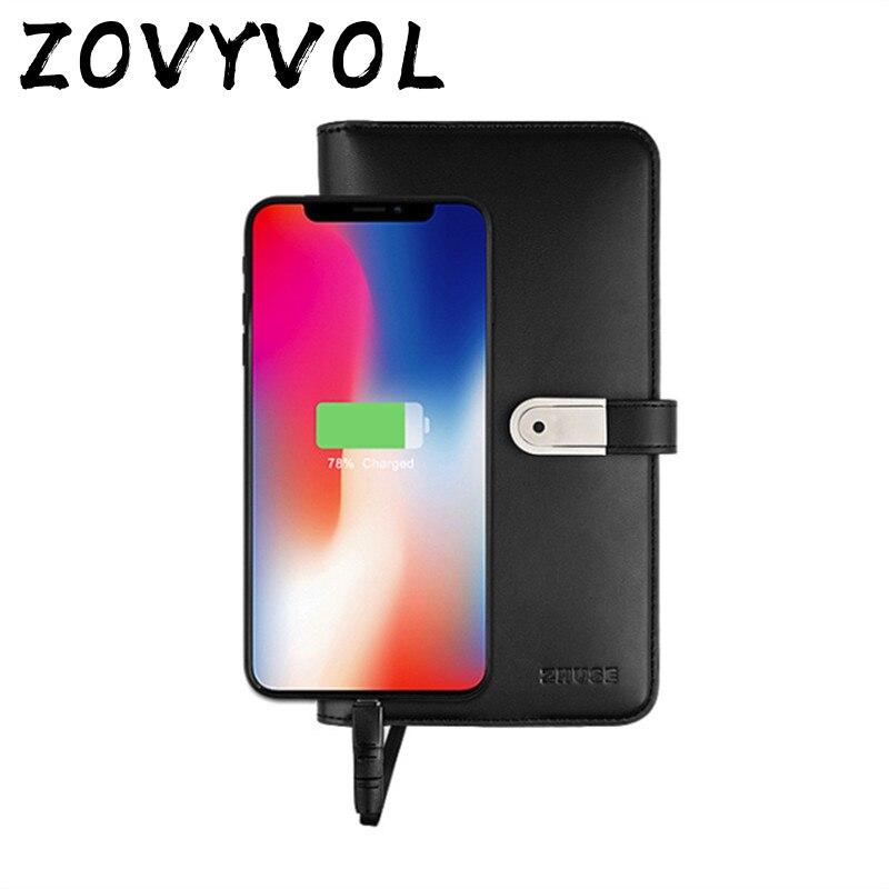 ZOVYVOL 2019 portefeuille intelligent magique unisexe Long avec USB pour charger le portefeuille pour Ipone et Android capacité 8000 mAh et 16G U disque