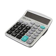 One Piece Deli 1532 Office Commercial Type Calculator Real Voice 12 Digits Large LCD Screen Calculator with alarm calendar