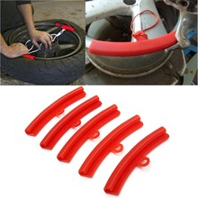 5pcs Car Tire Guard Rim Protector Tyre Wheel Changing Rim Edge Protection Tools Polyethylene Rubber