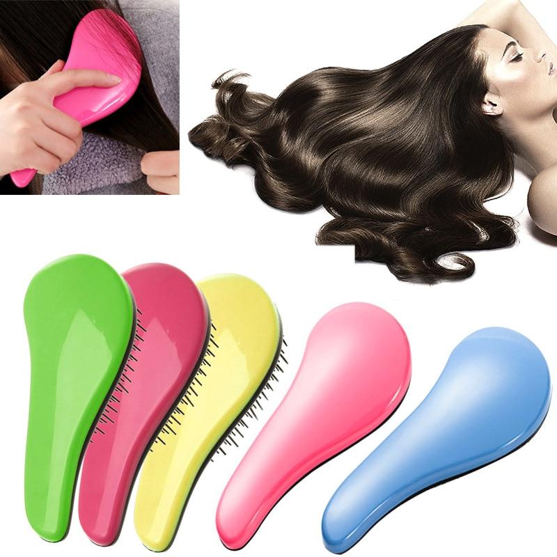 2017 Tangle Hair Brush Professional Hairbrush Paddle Detangler Hair Brushes Massage Comb Care Styling Women Anti-Static