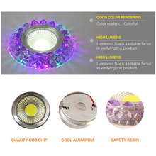 LED Colorful downlight COB AC100-230V 3W 5W 7W 9W 110V 220Vled ceiling downlight rainbow RGB lamp ceiling spot light Magic color