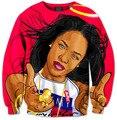 Harajuku estilo Aaliyah Babygirl 3D camisola 3D mulheres / homens outono casual crewneck bordado hoodies casacos tops frete grátis