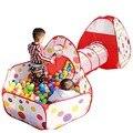 3 В 1 детский Туннель Играть Дома Крытый Открытый Портативный Играть палатки Игрушки Fancing Детские Манеж Детский Складной Всплывающие Мяч Бассейн