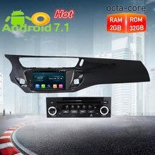 Восьмиядерный Android7.1 автомобиля радио gps DVD мультимедийный плеер стерео для Citroen C3 DS3 2010-2016 Авто аудио навигации головного устройства
