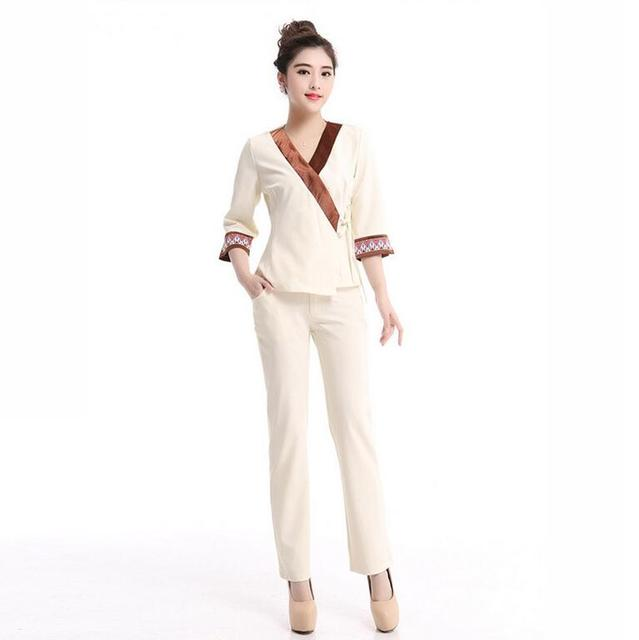 Buy sauna clothes coverall entertainment for Spa employee uniform