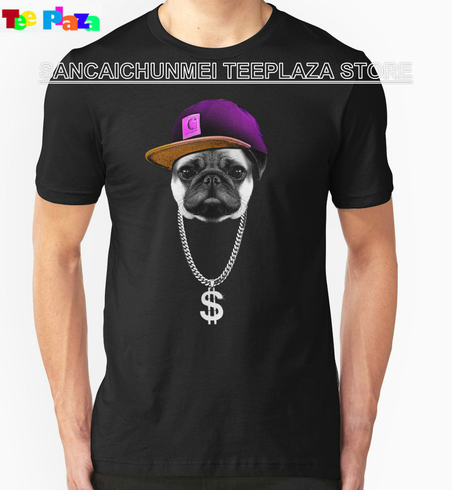 Design t shirt sell - 2017 Direct Selling Real Fashion O Neck Cotton Knitted Teeplaza Designer T Shirts Graphic Hip Hopper Pug Short Sleeve For Men