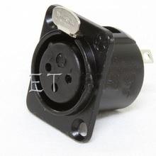 10pcs/lot Made by Neutrik China factory YS145 BG Cannon Female black XLR Socket